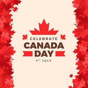 Concepto de día plano de canadá
