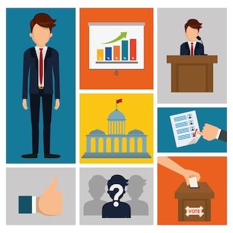 Concepto del día de los presidentes con el diseño del icono, gráfico del ejemplo 10 eps del vector.