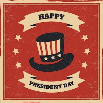 Concepto del día de los presidentes con diseño vintage