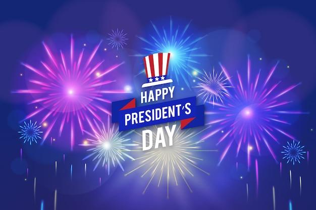 Concepto de día de presidentes de fuegos artificiales
