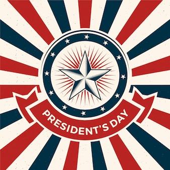Concepto de día de presidentes vintage