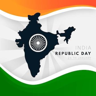 Concepto del día de la república de la india para dibujar