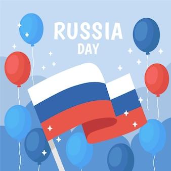 Concepto de día de rusia dibujado a mano
