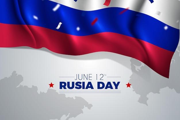 Concepto de día de rusia realista