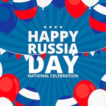 Concepto del día de rusia