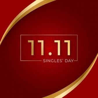 Concepto del día de los solteros dorados