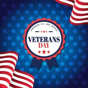 Concepto del día de los veteranos en diseño plano