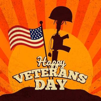 Concepto de día de los veteranos vintage