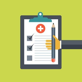 Concepto de diagnóstico médico