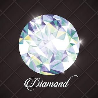 Concepto de diamante con diseño de icono