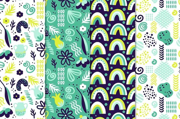 Concepto de dibujo de colección de patrones abstractos