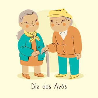 Concepto de dibujo dia dos avós