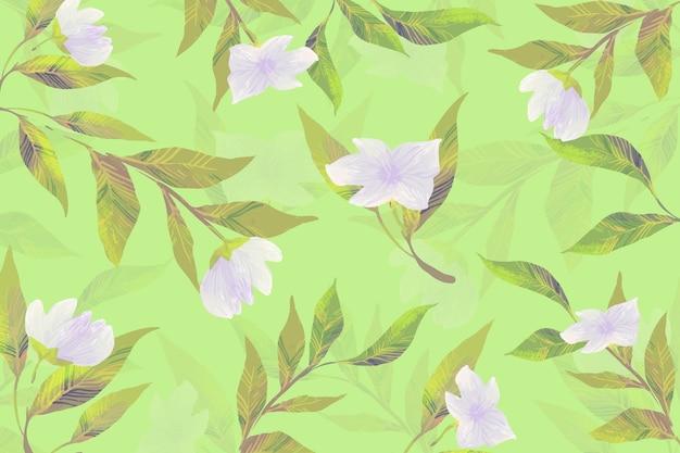 Concepto de dibujo con flores botánicas