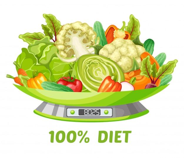 Concepto de dieta vegetal ligera
