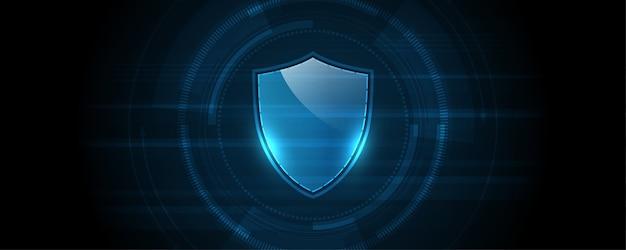 Concepto digital cibernético de seguridad fondo de tecnología abstracta proteger la innovación del sistema