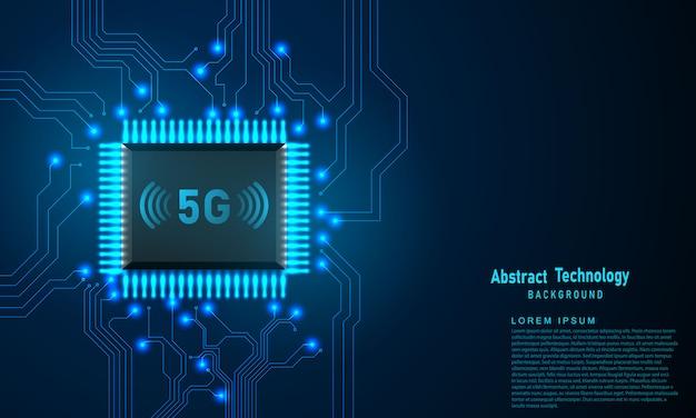 Concepto digital de diseño moderno de tecnología 5g. textura de fondo abstracto