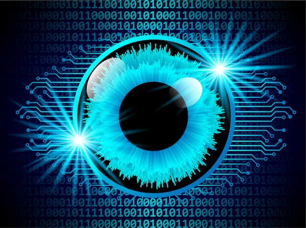 Concepto digital de escaneo de seguridad visual