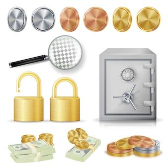 Concepto de dinero seguro