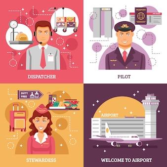 Concepto de diseño de aeropuerto
