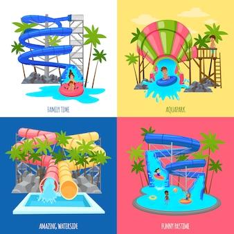 Concepto de diseño de aquapark