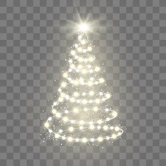 Concepto de diseño de árbol de navidad