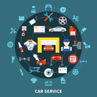 Concepto de diseño de auto servicio