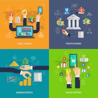 Concepto de diseño bancario