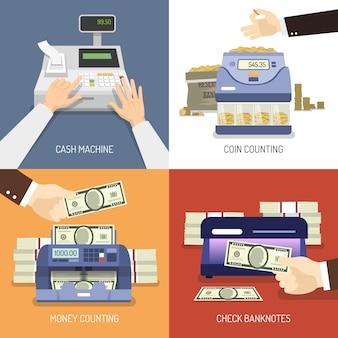 Concepto de diseño de banco