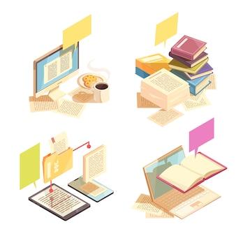 Concepto de diseño de biblioteca 2x2