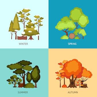 Concepto de diseño de bosque