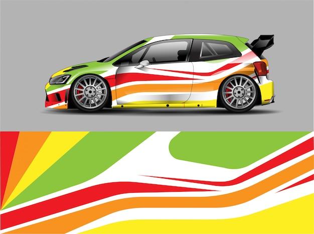 Concepto de diseño de calcomanía envolvente racing car