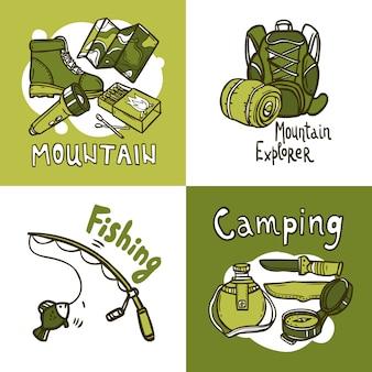 Concepto de diseño de camping