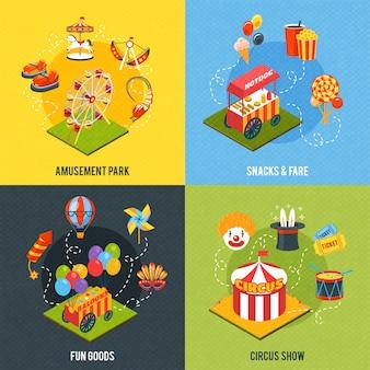 Concepto de diseño de carnaval