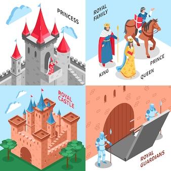 Concepto de diseño del castillo real