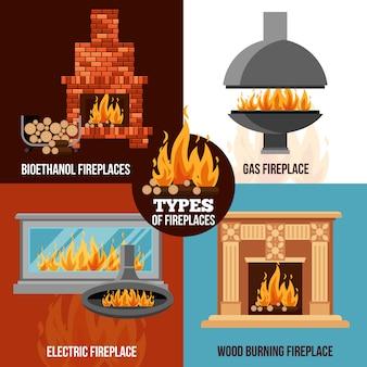 Concepto de diseño de chimeneas