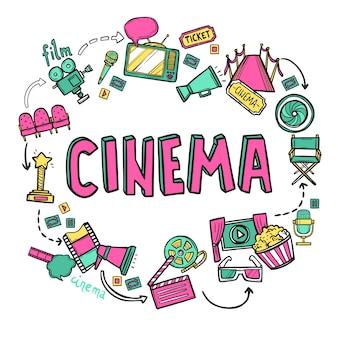 Concepto de diseño de cine