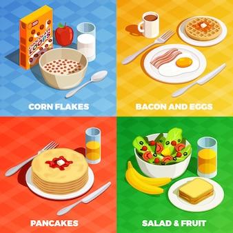 Concepto de diseño de comida de almuerzo