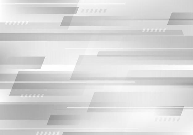Concepto de diseño corporativo de tecnología de fondo superpuesto de color blanco y gris geométrico abstracto. ilustración vectorial