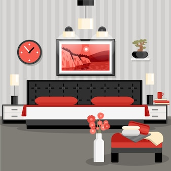 Concepto de diseño de dormitorio