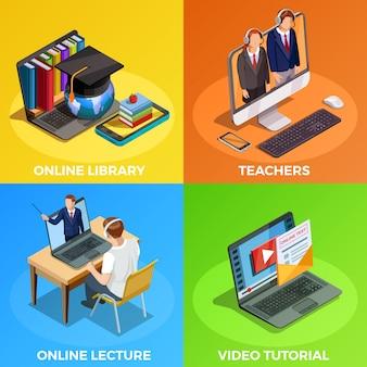 Concepto de diseño de educación a distancia