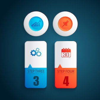 Concepto de diseño empresarial colorido con formas redondas de colores
