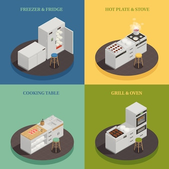 Concepto de diseño de equipos de cocina