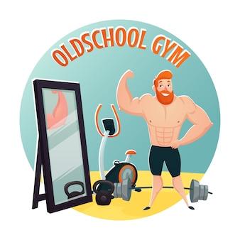 Concepto de diseño de escuela de gimnasio