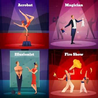 Concepto de diseño de espectáculo mágico
