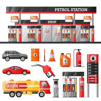 Concepto de diseño de la estación de gasolina