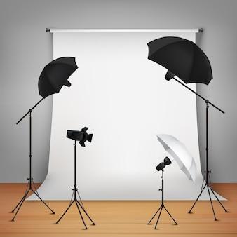 Concepto de diseño de estudio fotográfico