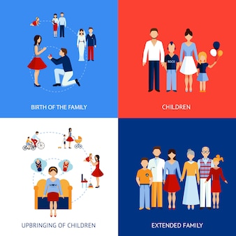 Concepto de diseño familiar