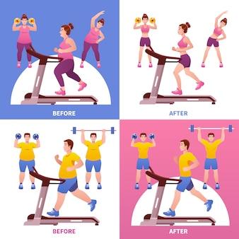 Concepto de diseño de fitness