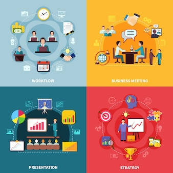 Concepto de diseño de flujo de trabajo empresarial