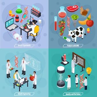Concepto de diseño genético 2x2.